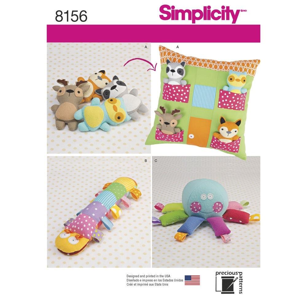 PATRÓN de juguete de tela / almohada casa y animales / pulpo