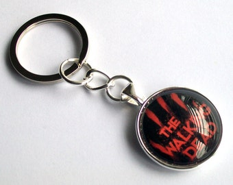 The Walking Dead Keychain ~ Zombie Keyring ~ Walking Dead Bag Charm ~ Rick Grimes ~ TWD Gift ~ Walking Dead Lover Gift