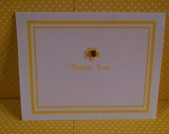 Four Color Thank You Note Cards