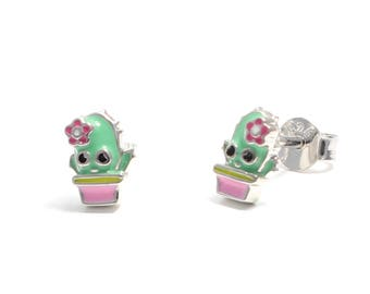 Cactus earrings 925 sterling silver
