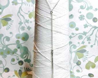 Sterling Silver - Y Necklace / lariat necklace/ dainty Y necklace / layering necklace / hammered necklace / minimalist necklace