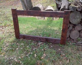 rustic mirror, reclaimed wood mirror, wood mirror frame, mirror