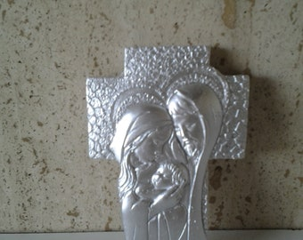 Cross with Holy Family