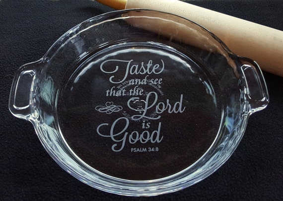 Like this item? & Personalized Pie Pan Engraved Pie Pan Glass Deep Dish Pie