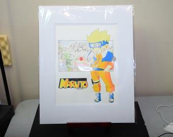 Original Colored Pencil Illustration of Naruto.