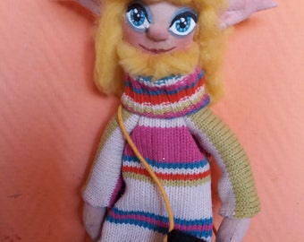 Elf hand made with 100% recycled fabrics