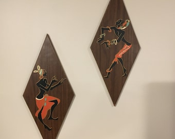 Vintage 1950-60's Mid-Century Turner Wall Accessory - Dancing Women - A873