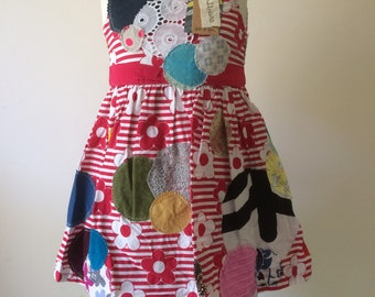 "Girl's Dress size 4 ""dots & spots"""