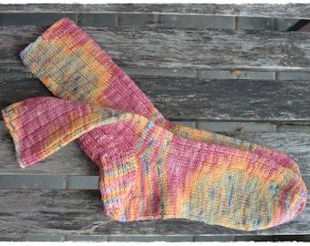 Damen Socken handgefärbt und handgestrickt in Gr. 40/41, Silly Socks ∞ Playground