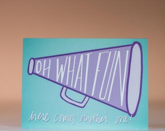 Oh What Fun - Greeting Card - Blank Inside - New Baby Card - Expecting Card - Congratulations Card