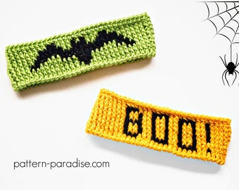 Crochet Pattern for Headband, Ear Warmer Halloween PDF 16-273