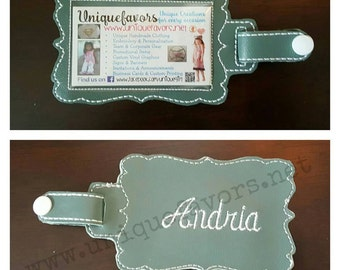 Vinyl ID holder Lanyard or Luggage Tag optional Personalization! Long lasting! Great gift for teachers, brides, grooms & more. Many uses!