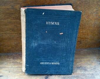 Antique English Hymns Ancient & Modern 1906 religion church songs book / English Shop