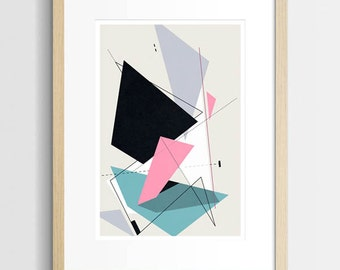 Modern Abstract Geometric Print, Abstract Wall Art, Geometric Art, Modern Art, Modernist, Home Interior Art, Modern Decor, Constructivism