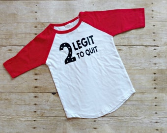 Toddler Birthday Shirt Boy, Second Birthday Boys tshirt, Toddlers 2nd Birthday, 2 Legit to Quit Toddler Shirt Boy, Boys Birthday Shirt 2
