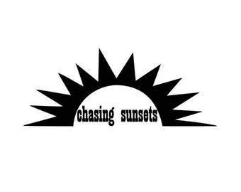 Chasing Sunsets Vinyl Decal