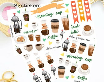 Coffee Time Sticker - Happy Planner/Passion Planner/Filofax/Bullet Journal/Traveler's Notebook/MAMBI Stickers