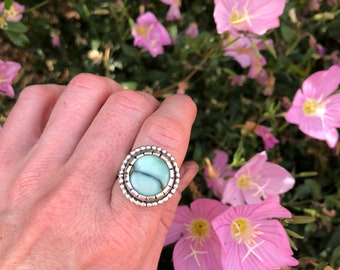 Desert Bloom Variscite Ring • Sterling Silver and Turquoise/Variscite jewelry