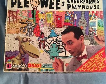 Pee-Wee Herman Colorforms Deluxe Playhouse Playset Vintage 1987 PeeWee unused