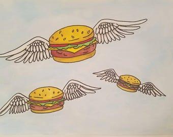 Bobs Burgers Winged Burger Poster!