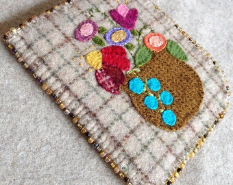Blooming Needlekeeper Pattern - Wool Applique - #NK61