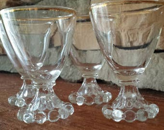 Anchor Hocking Boopie Style Juice Glasses 1940s D026