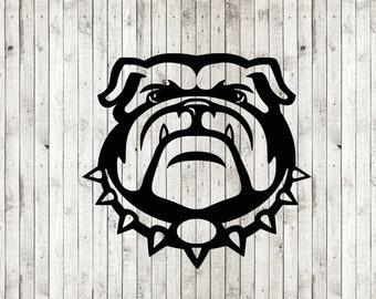 Bulldog svg cut file, bulldog clipart, dxf, png