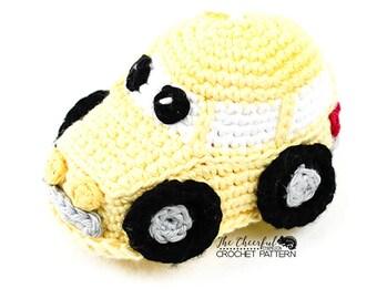 Car Crochet Pattern - Car Amigurimi Pattern - Vehicle  Pattern - Bath Scrubby Pattern - Bath Toy - Crochet Vehicle