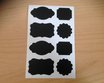 Chalkboard sticker labels