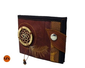 Handmade Wallet, Vegan Leather Wallet with Dreamcatcher, Leather Wallet, Tribal Boho Wallet - UNUSUAL Wallet