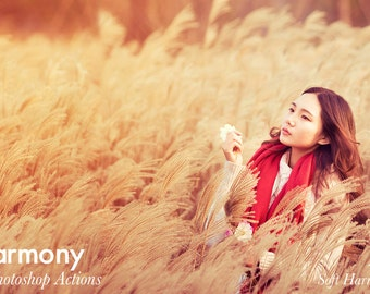 Harmony - 2 Photoshop Actions INSTANT DOWNLOAD