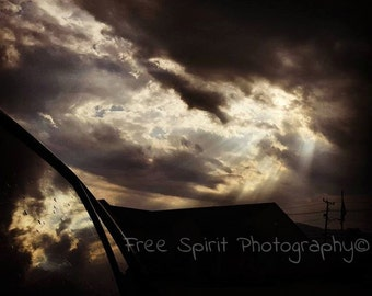 Instant Download. Summer. Sunshine On A Cloudy Day, Digital Photography