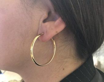 Hoops earring, Metal Earring, Gold filled earring, Brass earring