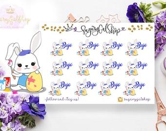 Bunny Bujo Sticker Sheet