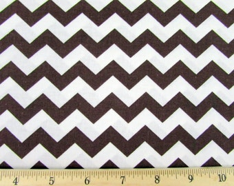 "1/2"" Chevron Brown Fabric"
