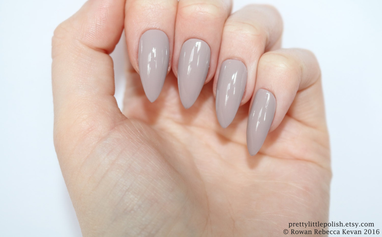Stiletto nails, Mocha stiletto nails, Fake nails, Press on nails ...