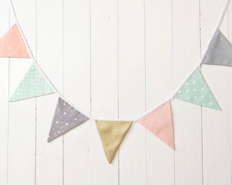 Bunting Banner Bunting Fabric Banner Flags Bunting Flags Garland Banner Bunting Fabric Bunting Nursery Pennant Banner Fabric Garland Banner