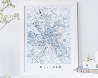 Toulouse map Etsy