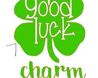 four leaf clover St. Patricks day monogram, name, i pinch back, good luck charm