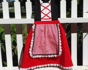 Les filles Little Red Riding Hood tablier