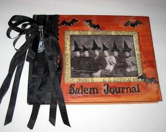 Altered Notebook or Journal - Halloween - Salem Journal