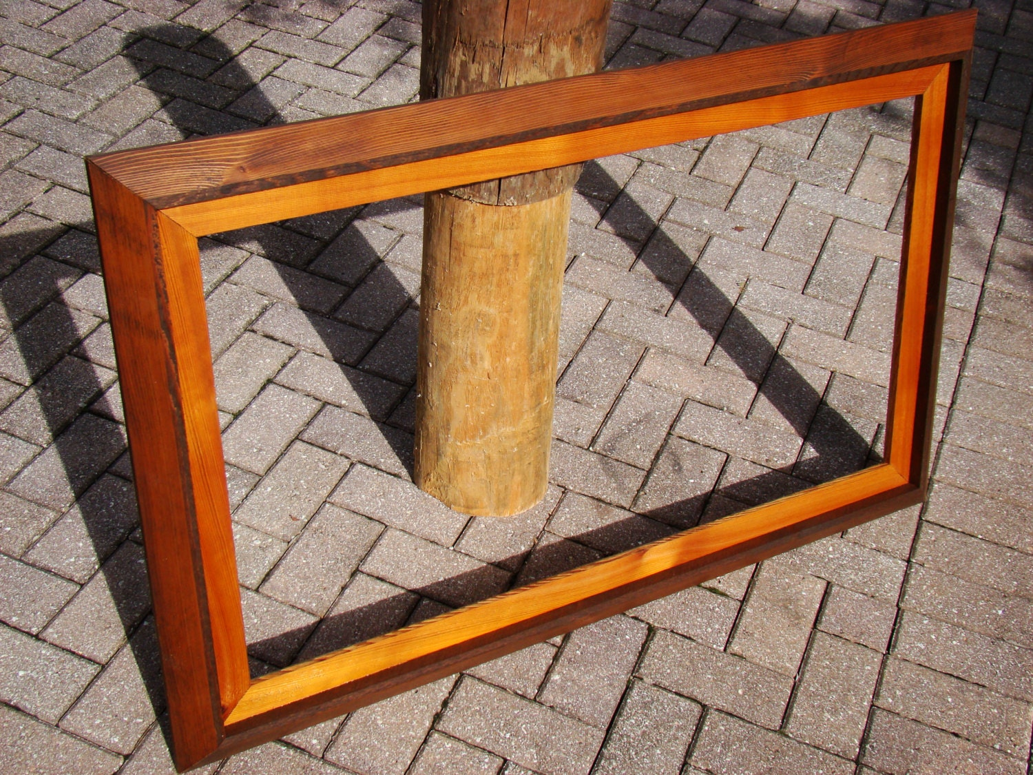 Extra large frame w/ 22x40 opening handmade from rustic red