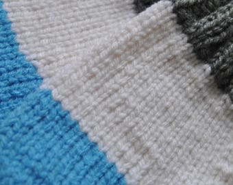 Custom colour block knit mittens - toddler to adult sizes