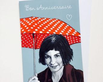 Amelie Illustrative A5 Birthday Card
