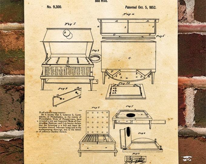KillerBeeMoto: Duplicate of Original U.S. Patent For Lorenzo L. Langstroth Bee Hive 1852