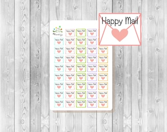 S161 - 44 Happy Mail Planner Stickers