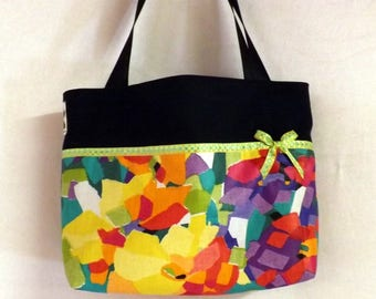 """Billbag"" black and colorful tote bag"
