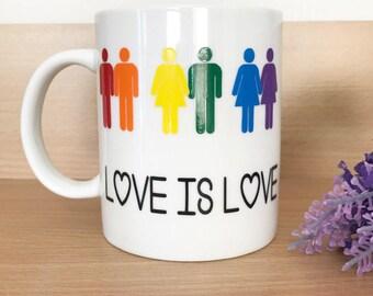 Love is Love Coffee Cup, Coffee Mug, Marriage Equality