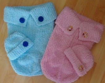 Hand Made. Hand Knitted. Newborn/Baby. Baby Cocoon & Hat Set