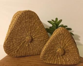 etsy il decor baskets decorative wall oval market basket round farmhouse and